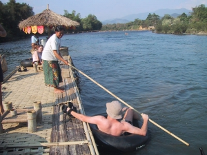 Beer on the Nam Ha River