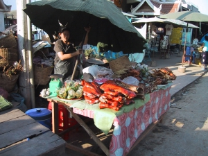 Meat Stand in Luang Prabang
