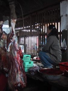 Muang Sing Market Butcher