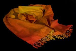 Liquid Fire shawl