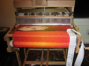 Liquid Fire on the loom