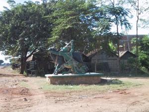 Cambodia Bull Statue