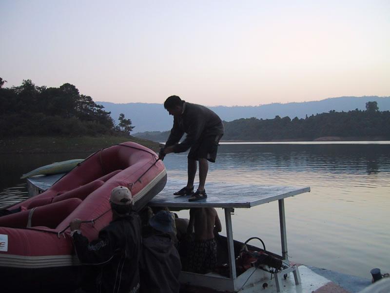 Unloading at Beautiful Scenic Lake