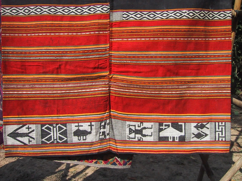 Black Hmon Skirt from Laos