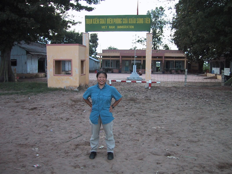 Tien at Vietnam Border