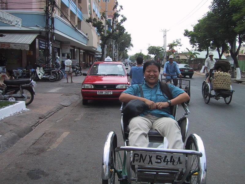 Tien in Vietnam Cyclo in Saigon