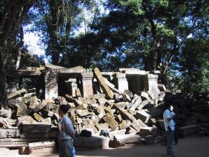 Angkor - Ta Prohm Before Restoration