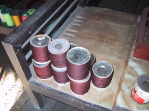 Closeup of Reeled Bobbins