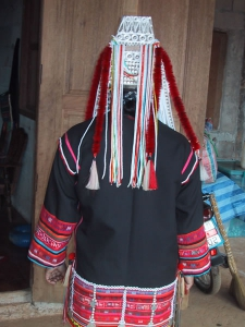 Back of an Akha Costume
