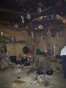Interior of an Akha House