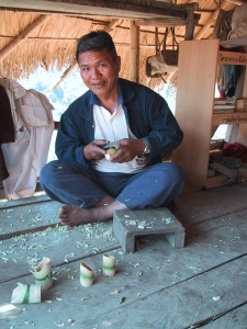 Akha Man Carving Cups