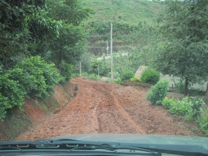 Road to Akha Village