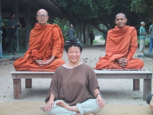 Suan Mok Tien with Monks