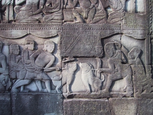The Bayon Bas-Relief: Boar-fight
