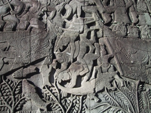The Bayon Bas-Relief: Crocodile