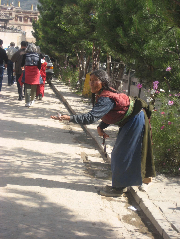 Xining Kumbum Beggar