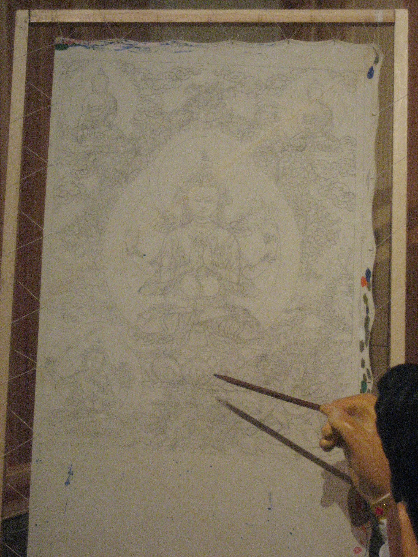 Xining Thangka Tibetan Buddhist Painting