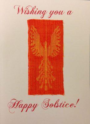 handwoven solstice card