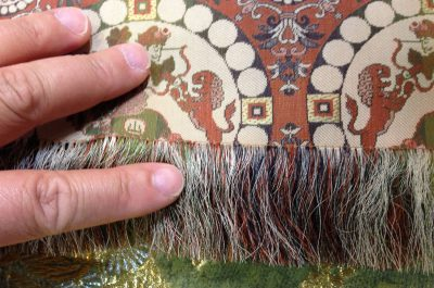 fringe of insanely fine handwoven fabric