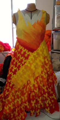 front of new muslin for Phoenix Rising