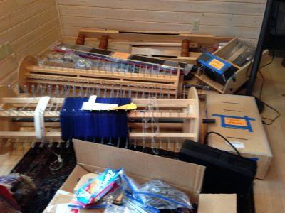 40-shaft AVL loom, disassembled