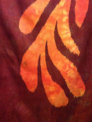 Stained portion of third phoenix.