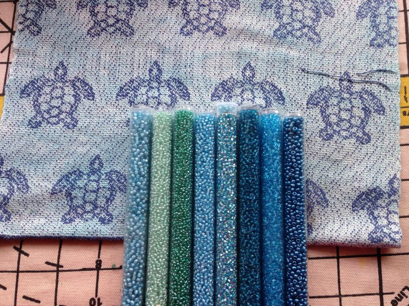 beads for sea turtle scarf