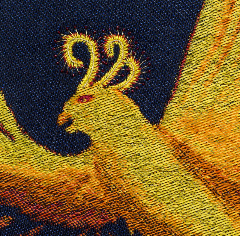"Handwoven phoenix #2 - ""Goodbye, Ma #2"" - Detail shot"