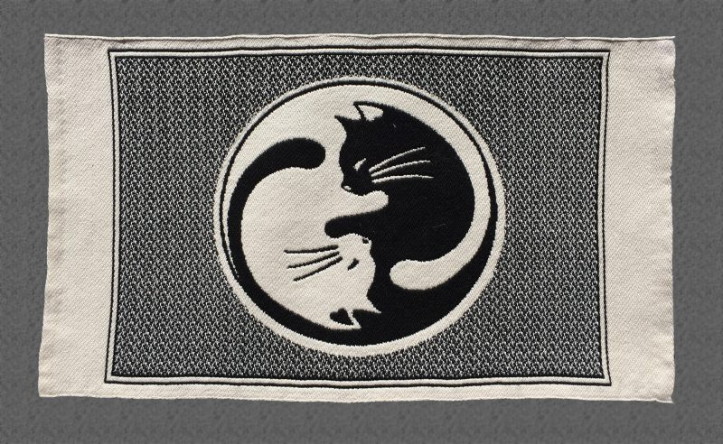 """Cat placemat - """"The Tao of Cats"""" - light side"""